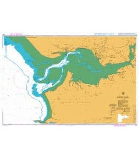 British Admiralty Nautical Chart 1167 Burry Inlet