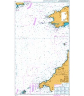 British Admiralty Nautical Chart 1178 Approaches to the Bristol Channel