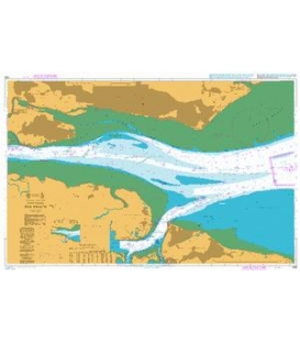 British Admiralty Nautical Chart 1185 River Thames, Sea Reach