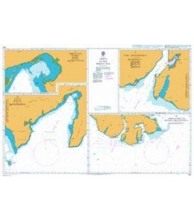 British Admiralty Nautical Chart 1231 Ports in the Bering Sea