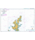 British Admiralty Nautical Chart 1233 Northern Approaches to the Shetland Islands