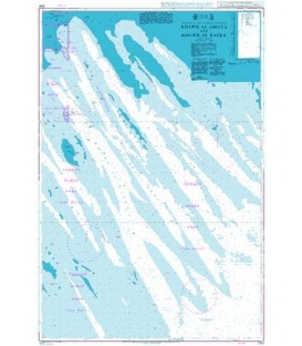 British Admiralty Nautical Chart 1265 Khawr al Amaya and Khawr al Kafka