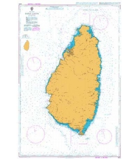 British Admiralty Nautical Chart 1273 Saint Lucia