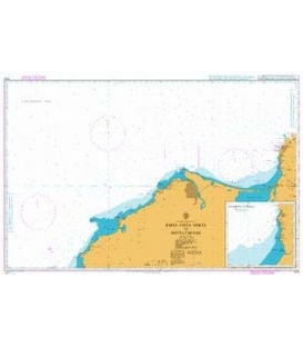 British Admiralty Nautical Chart 1276 Bahia Santa Marta to Punta Canoas