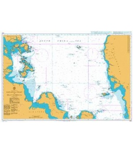 British Admiralty Nautical Chart 1312 Singapore Strait to Selat Karimata