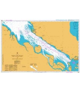 British Admiralty Nautical Chart 1358 Permatang Sedepa (One Fathom Bank) to Singapore Strait
