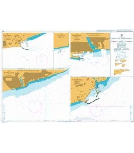 British Admiralty Nautical Chart 1380 Ports and Anchorages in Ghana, Togo and Benin