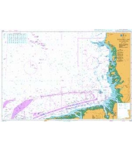 British Admiralty Nautical Chart 1423 Terschelling to Esbjerg