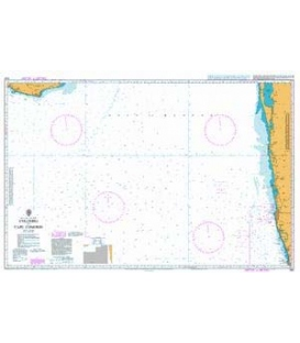 British Admiralty Nautical Chart 1587 Colombo to Cape Comorin