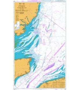 British Admiralty Nautical Chart 1610 Approaches to the Thames Estuary