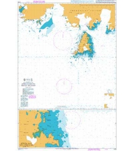 British Admiralty Nautical Chart 1779 Approaches to Signy Island