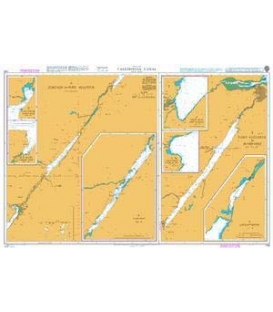 British Admiralty Nautical Chart 1791 Caledonian Canal