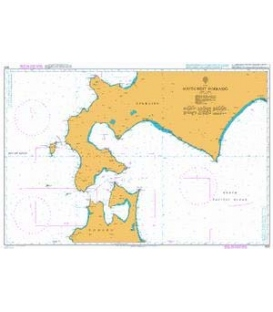 British Admiralty Nautical Chart 1800 South-West Hokkaido
