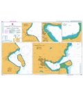 British Admiralty Nautical Chart 1864 Harbours and Anchorages in Arran and Kintyre