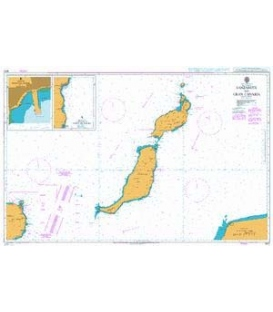 British Admiralty Nautical Chart 1870 Lanzarote to Gran Canaria