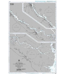British Admiralty Nautical Chart 1982A Rio Parana - From the Mouths to Rosario