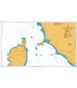 British Admiralty Nautical Chart 1999 Livorno to Civitavecchia including Northern Corse