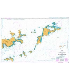 British Admiralty Nautical Chart 2019 North Sound to Road Harbour