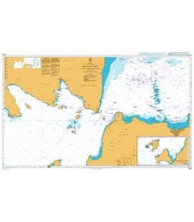 British Admiralty Nautical Chart 2056 Selat Sunda and Approaches including Selat Panaitan