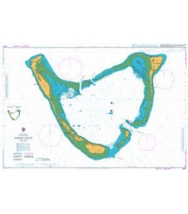British Admiralty Nautical Chart 2067 Addoo Atoll