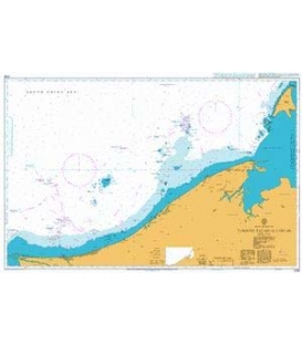British Admiralty Nautical Chart  2109 Tanjung Baram to Labuan