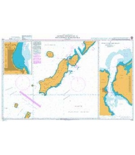British Admiralty Nautical Chart 2128 Ostrov Onekotan to Poluostrov Kamchatka