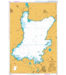 British Admiralty Nautical Chart 2163 Lough Neagh