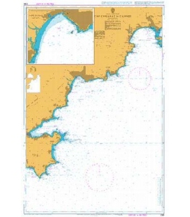 British Admiralty Nautical Chart 2166 Cap Camarat to Cannes