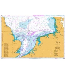 British Admiralty Nautical Chart 2182 North Sea Southern Sheet