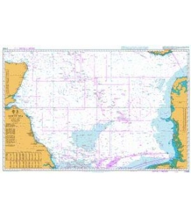 British Admiralty Nautical Chart 2182 North Sea Central Sheet