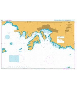 British Admiralty Nautical Chart 2183 Saint Thomas Harbor