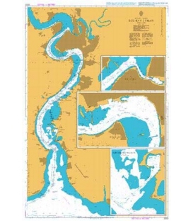 British Admiralty Nautical Chart 2203 Buz'kyy Lyman