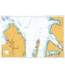British Admiralty Nautical Chart 2210 Approaches to Inner Sound