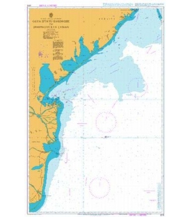 British Admiralty Nautical Chart 2213 Gura Sfintu Gheorghe to Dnistrovs`kyy Lyman