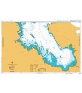 British Admiralty Nautical Chart 2275 Onezhskiy Zaliv