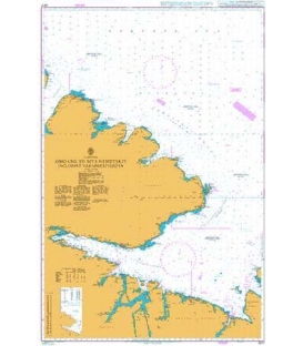 British Admiralty Nautical Chart 2317 Omgang to Mys Nemetskiy including Varangerfjorden