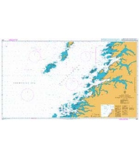 British Admiralty Nautical Chart 2321 Vestfjorden Myken to Moskenesoya