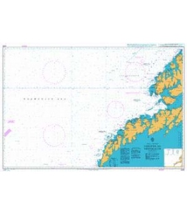 British Admiralty Nautical Chart 2328 Lofoten to Vesteralen