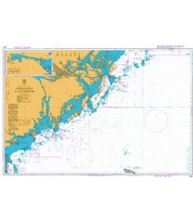 British Admiralty Nautical Chart 2362 Approaches to Stockholm