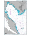 British Admiralty Nautical Chart 2414 Singapore to Song Sai Gon and the Gulf of Thailand