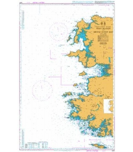 British Admiralty Nautical Chart 2420 Aran Islands to Broad Haven Bay