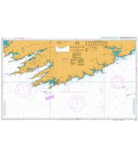 British Admiralty Nautical Chart 2424 Kenmare River to Cork Harbour