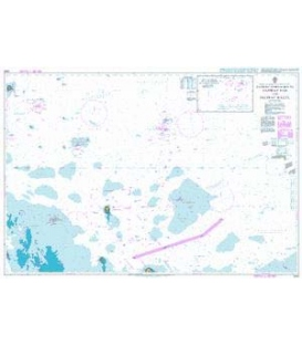 British Admiralty Nautical Chart 2444 Eastern Approaches to Jazirat Das and Jazirat Halul