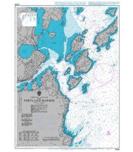 British Admiralty Nautical Chart 2488 Portland Harbor