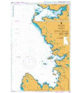British Admiralty Nautical Chart 2504 Lochinver and Approaches