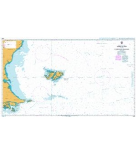 British Admiralty Nautical Chart 2505 Approaches to the Falkland Islands