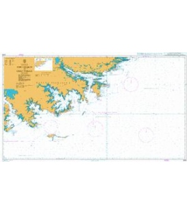 British Admiralty Nautical Chart 2508 Port Fitzroy to Eagle Passage