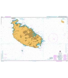 British Admiralty Nautical Chart 2538 Malta
