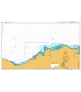 British Admiralty Nautical Chart 2574 Ras el Dab'a to Masabb Dumyat (Damietta Mouth)