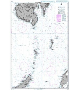 British Admiralty Nautical Chart 2575 Mindanao to Sulawesi